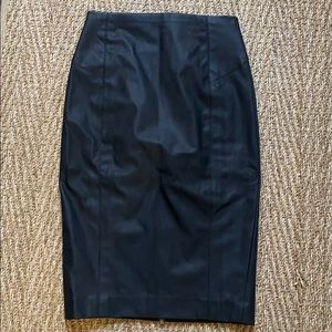 Express- black faux leather skirt